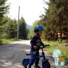 Biciclist la munte
