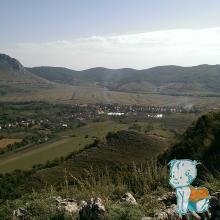 Satul Coltesti vazut de la Cetatea Trascaului